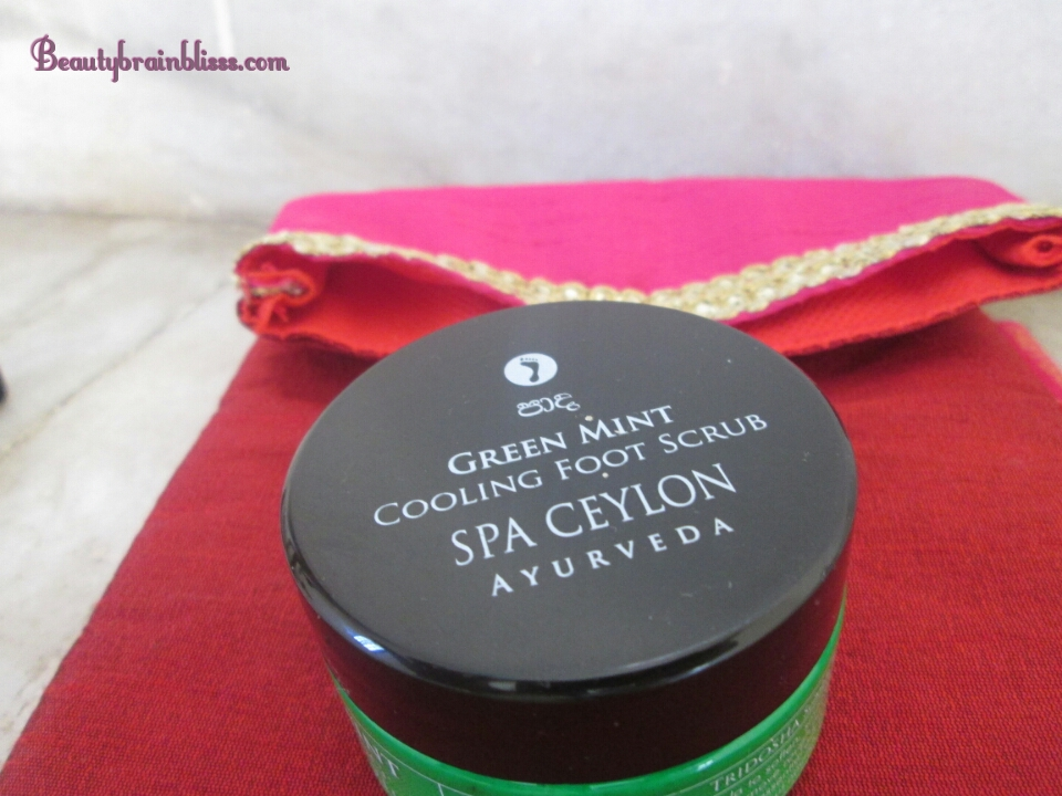 GREEN MINT cooling foot scrub - 50 gm ( 1100rs / 200gm)