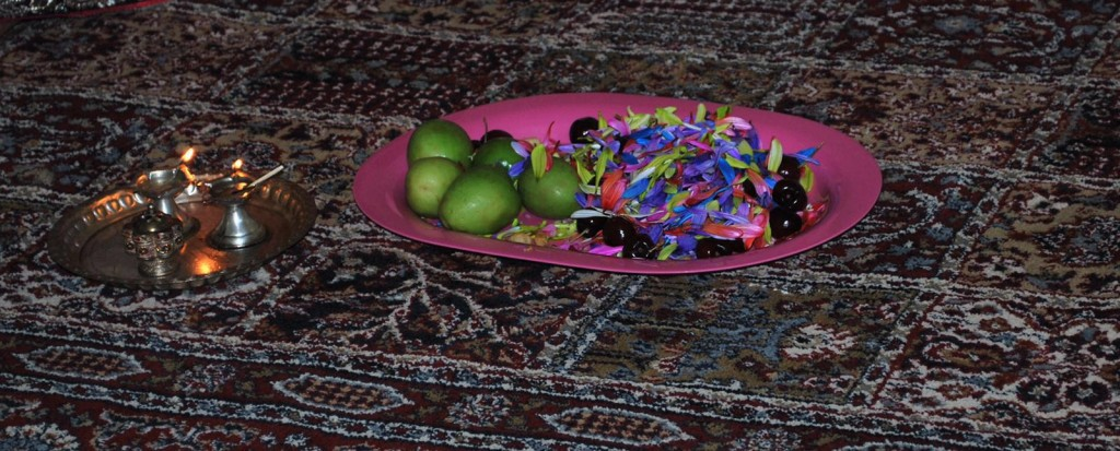 plate with Bhogi pallu